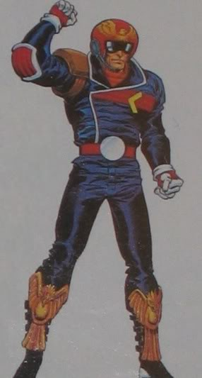 Captain Falcon in F-Zero