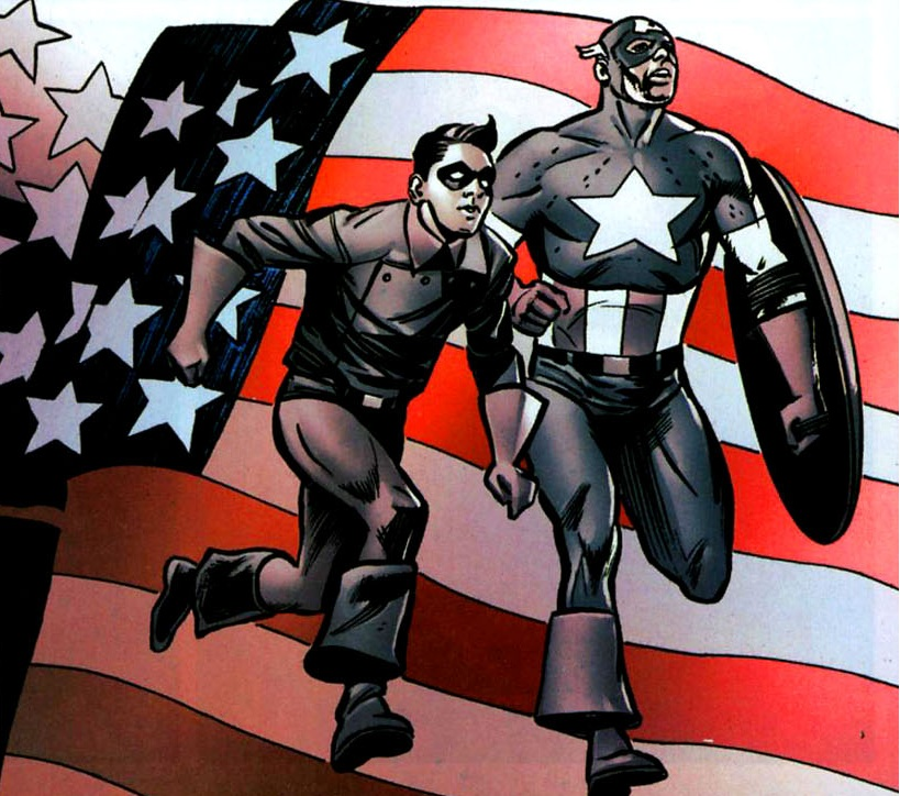 1950s Captain America and Bucky in action