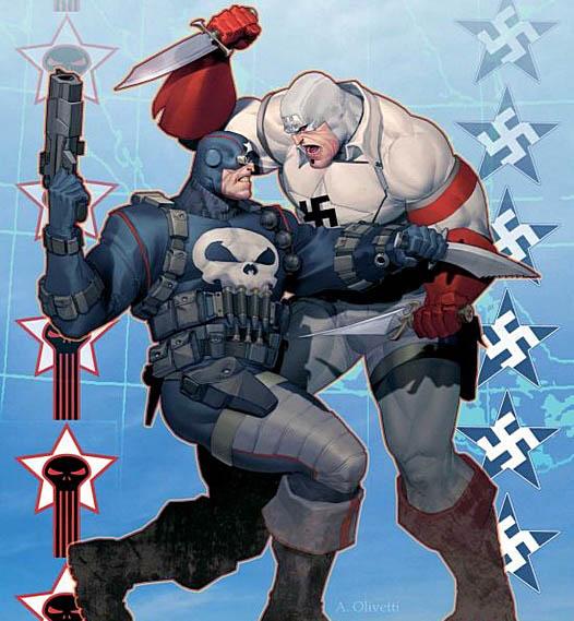 The Punisher battles the Hate Monger