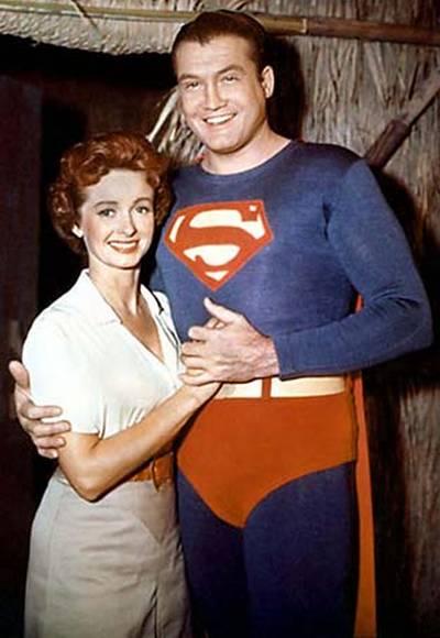George Reeves and Phyllis Coates