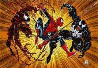 Spidey versus Carnage and Venom
