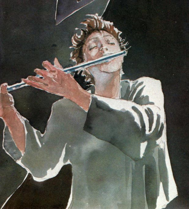 Moon and his flute