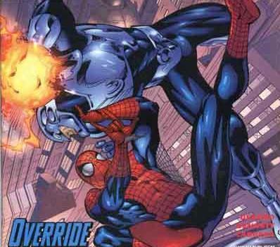 In battle with Spider-man
