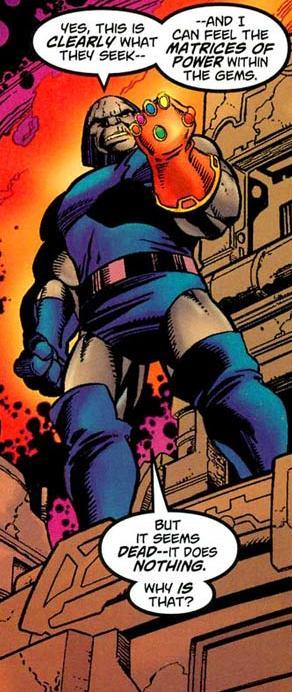 Darkseid with the Infinity Gauntlet