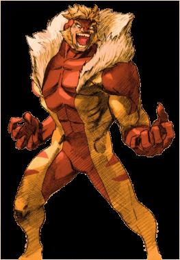 Sabretooth in Marvel Vs. Capcom 2