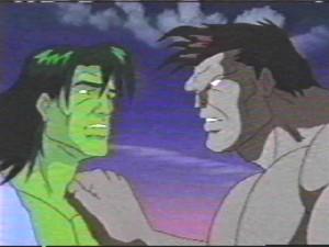 Rick with Gray Hulk