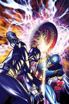 Ultimate Black Panther vs. Captain America