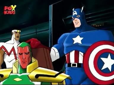 Cap with the Avengers