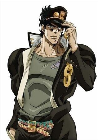 Jotaro in the anime