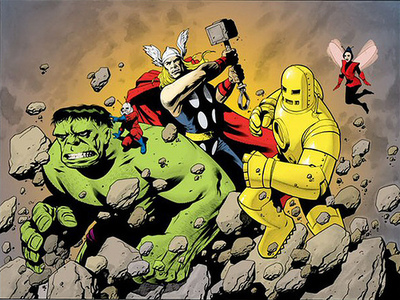 Thor along with the original Avengers.