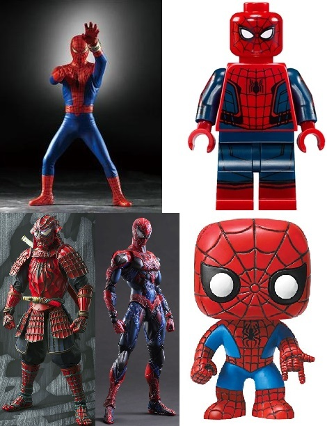 Spider-Man figures from other companies