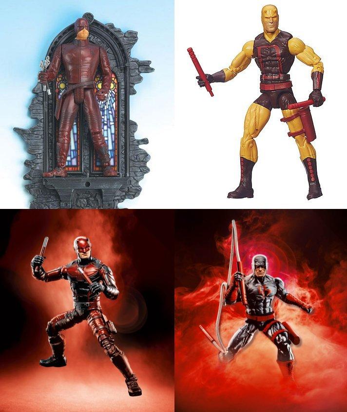 Four Marvel Legends figures
