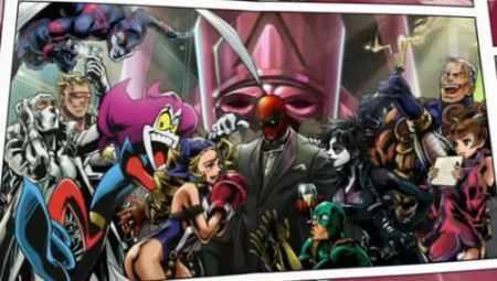 Fantomex (far left) in UMVC 3