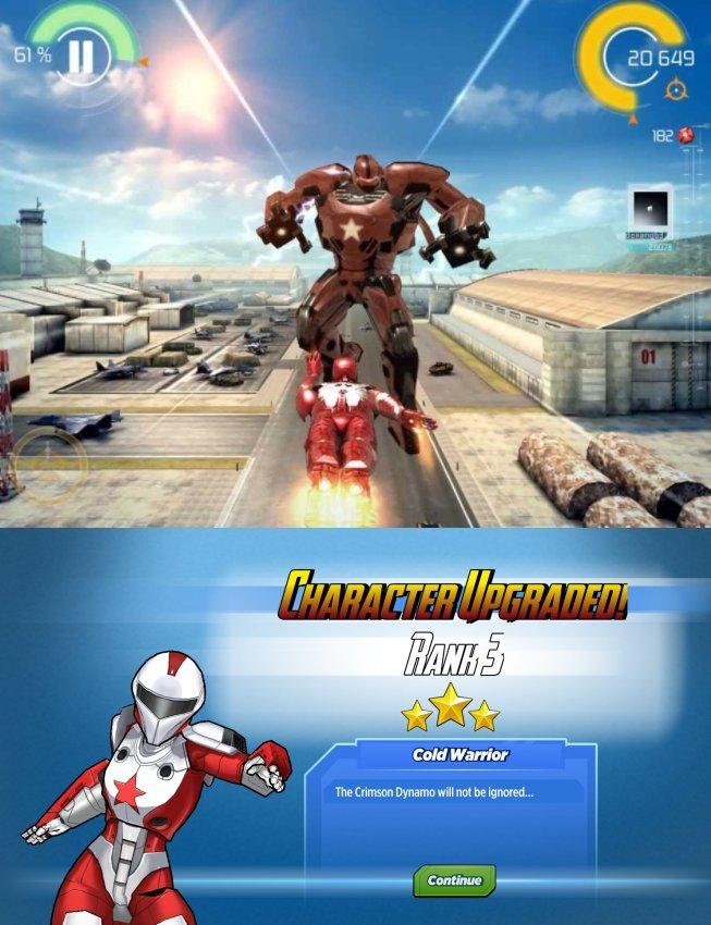 Iron Man 3 (top) and Avengers Academy (bottom)