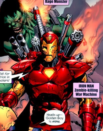 Rhodey in the Marvel Zombies universe