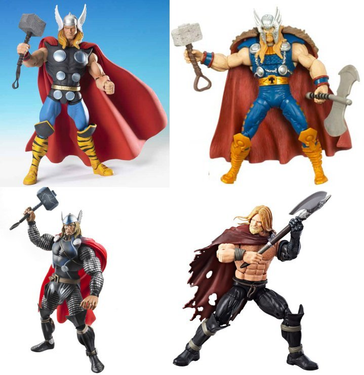 Various versions of Thor in the line