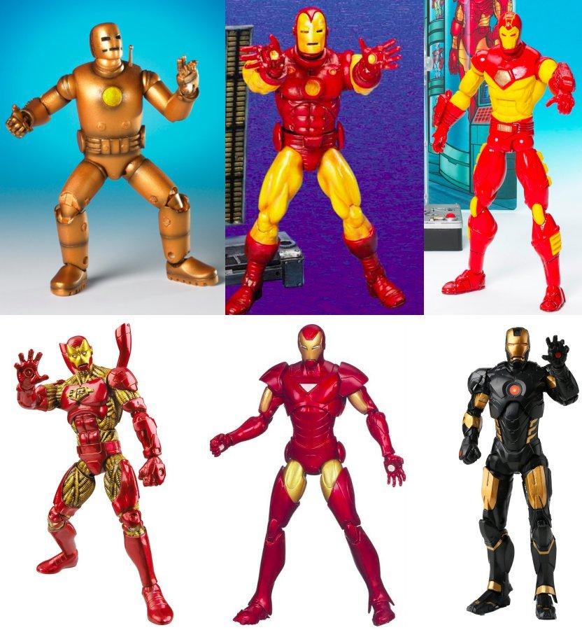 Marvel Legends from ToyBiz (top) and Hasbro (bottom)