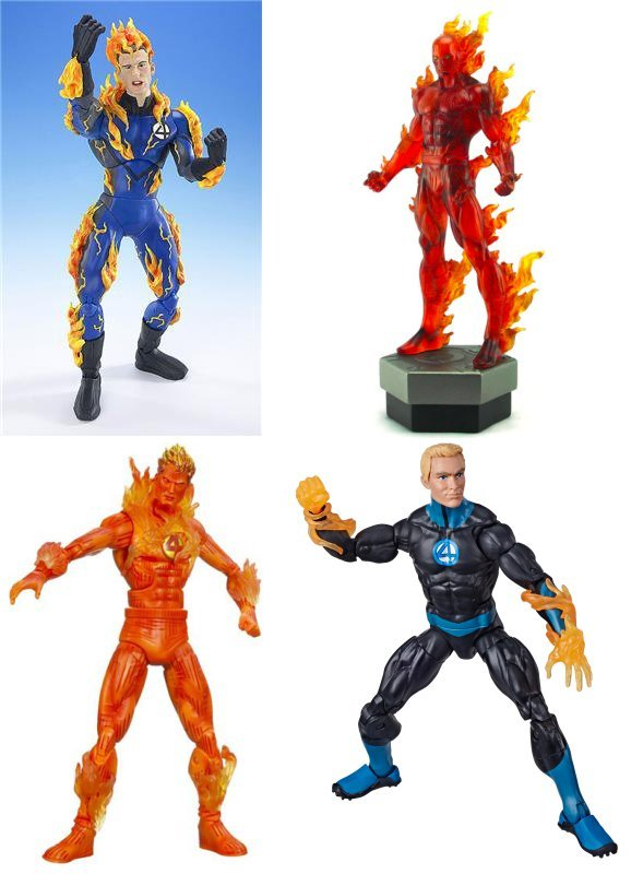 From ToyBiz and Bowen (top) and Hasbro (below)