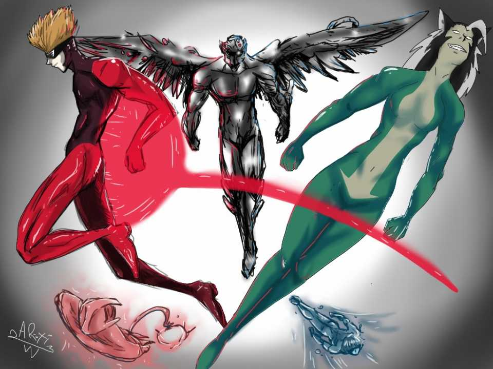 from the left+up laser-flash,left+down star-crawler ,middle colossus-arsenal, right+up rogue-beast, right+down shadow-raven by @artiom1q2w