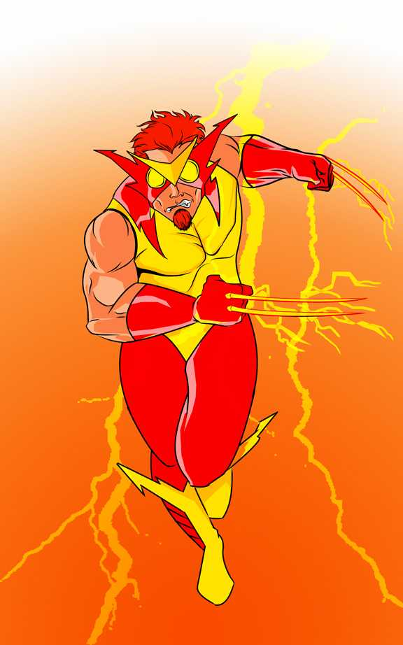 KID SLASH (Wolverine / Kid Flash) by @mrfuzzynutz