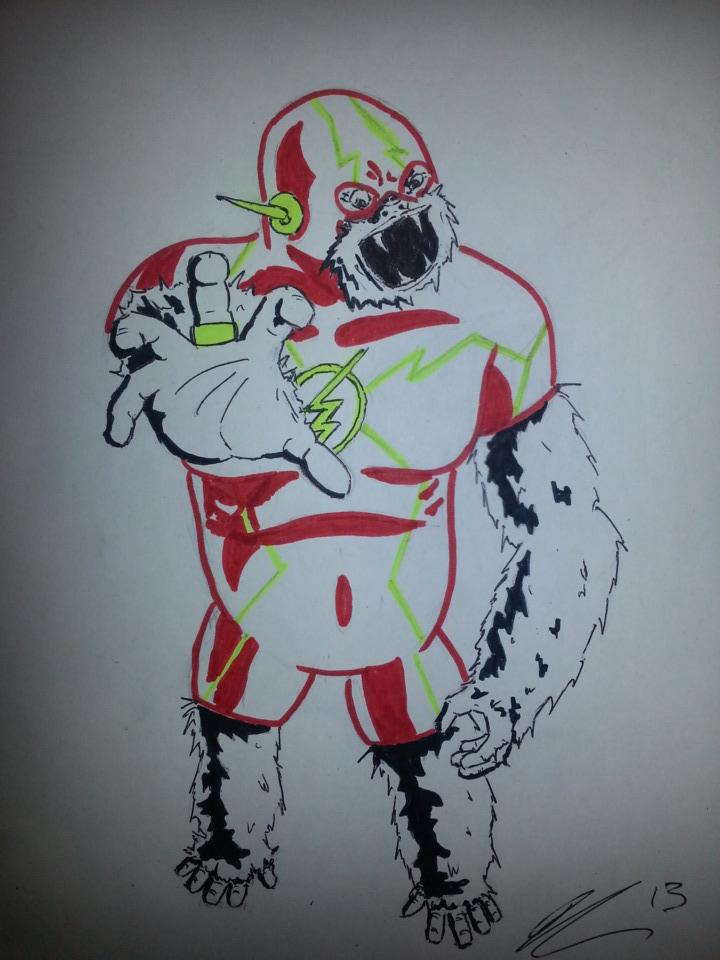 Gorilla Flash (The Flash/Gorilla Grodd) by bennyq