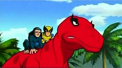 Wolverine & Moon Boy Riding Devil Dinosaur