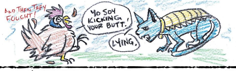 Poyo vs. Lying Cat (Chew/Revival #1)