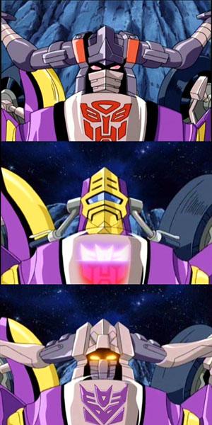 Sideways as Autobot & Decepticon