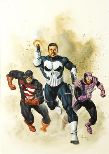 Walker and Paladin pursue the Punisher