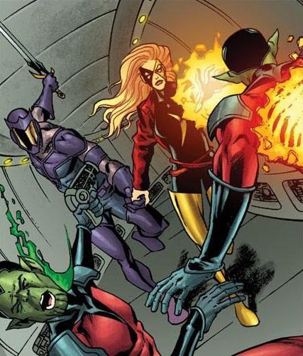 Thunderbolts vs. Skrulls by Fernando Blanco