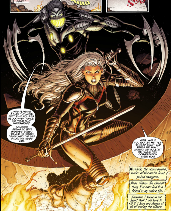 Rose and Warblade attack!