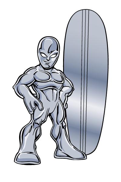 Silver Surfer as he appears in SHS