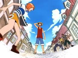 Luffy meeting Nami