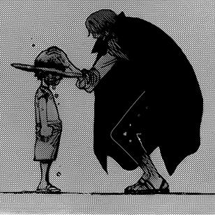 Shanks passed on his straw hat to Luffy