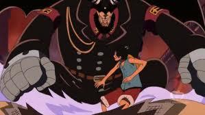 Luffy fighting Magellan