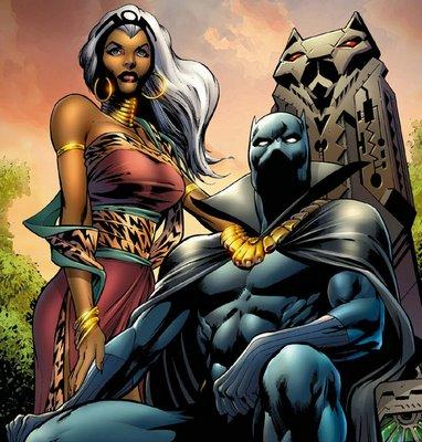 The Royal Couple; King T'Challa and Queen Ororo (Storm)