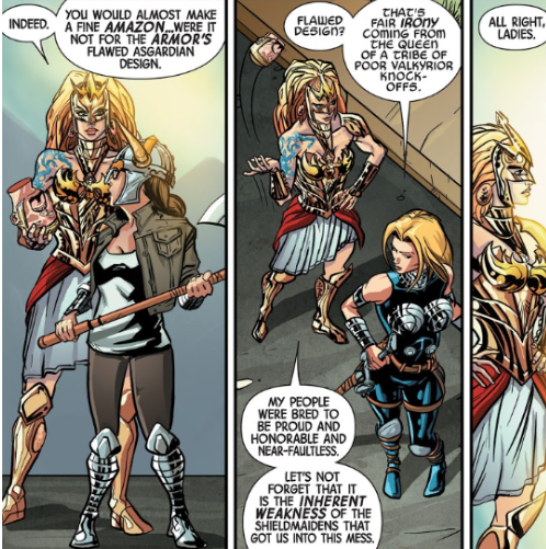 Hippolyta's rivalry with Valkyrie