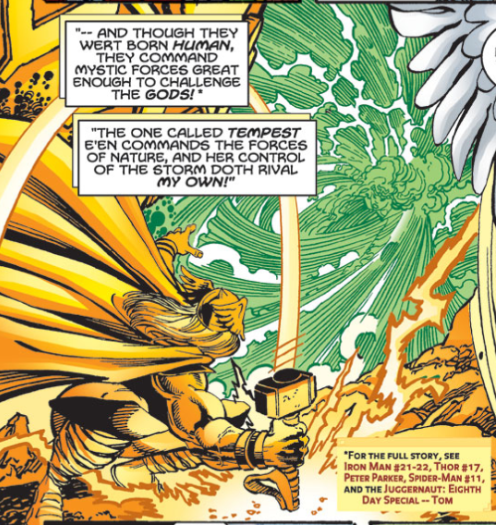 Thor recalls his fight with Tempest to Hercules, asking the fellow Demi-God for aid