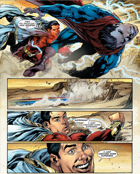 Don't we all wish we had the power to knock down Superman?