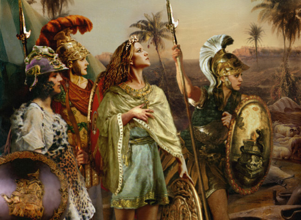 Just remember that the 'real Amazons' AKA the Scythians were European