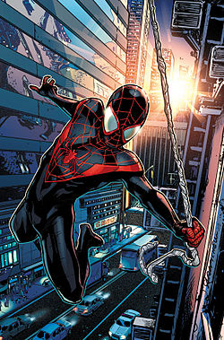 Miles Spider Man Suit, given to him by S.H.I.L.D.