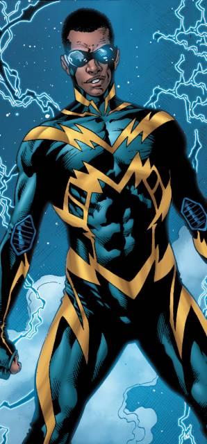 Black Lightning's new 52 look.
