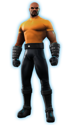 Luke Cage as he appears in the MMORPG, Marvel Heroes.