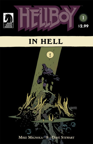 The cover of Hellboy In Hell, the first Hellboy ongoing series.