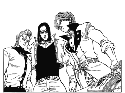 Hauser,Griamor and Gilthunder from Nanatsu no taizai represented by yours truly @deathhero61
