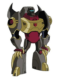 Grimlock in Transformers Animated in robot mode