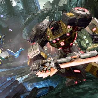 Grimlock in his robot mode in Fall of Cybertron