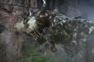 Grimlock in his dino mode in Age of Extinction