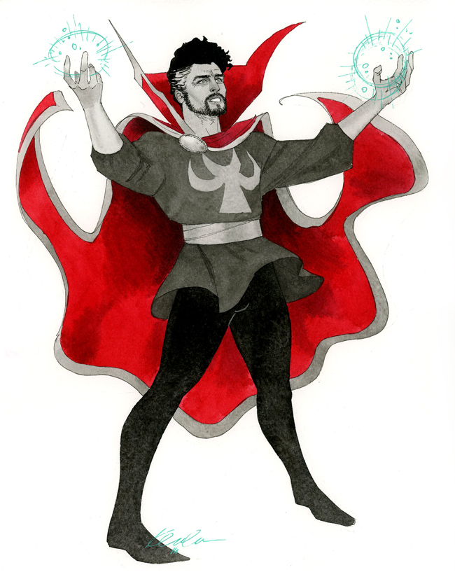 Stunning would be a gross understatement, if Doc Strange here ever gets a series, Kevin Wada needs to illustrate it