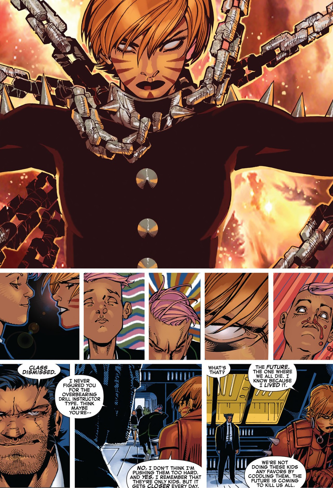 Able to oneshot Omega Level Mutant Telepath Quentin Quire, for trying to penetrate her defenses.